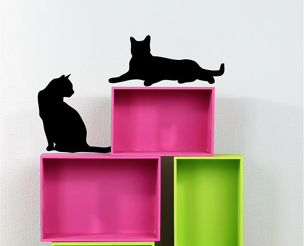 Armadio Organizzato : Sagoma gatti decorazione adesiva murale