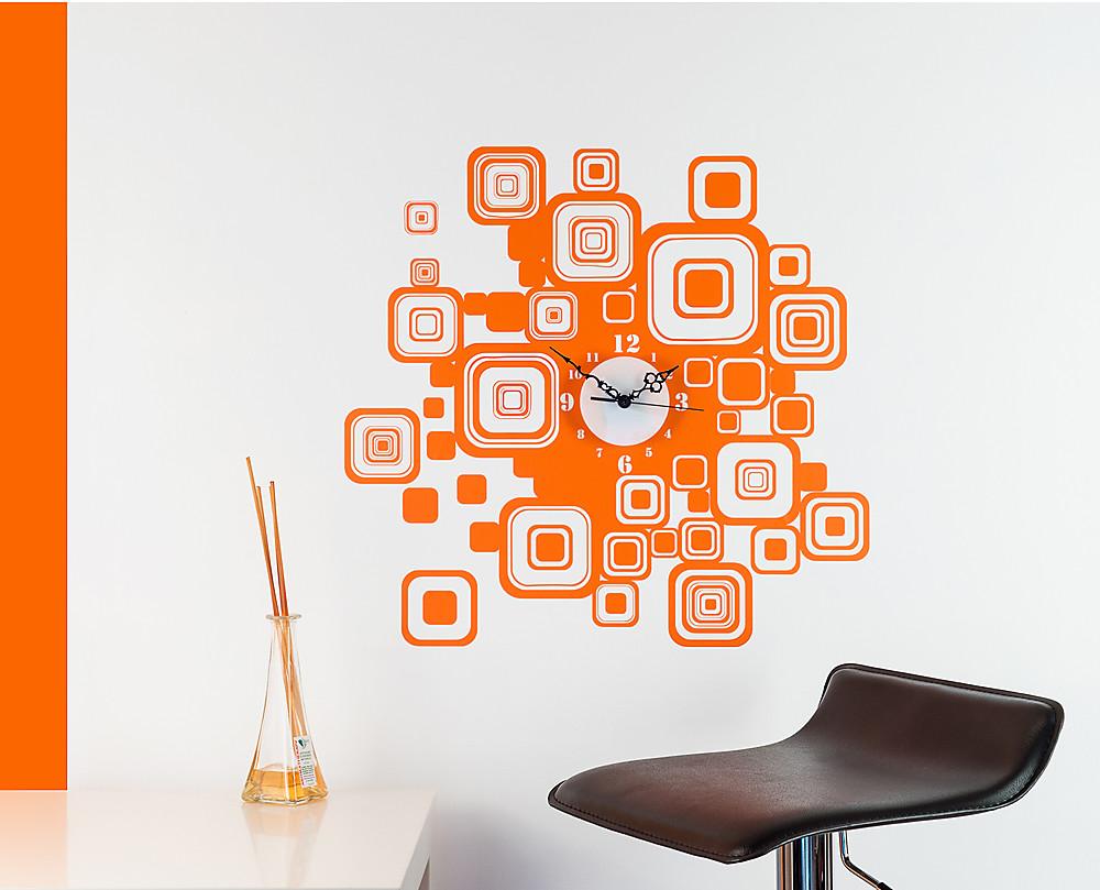 Pop time orologio da parete con sticker da muro - Stickers da parete personalizzati ...