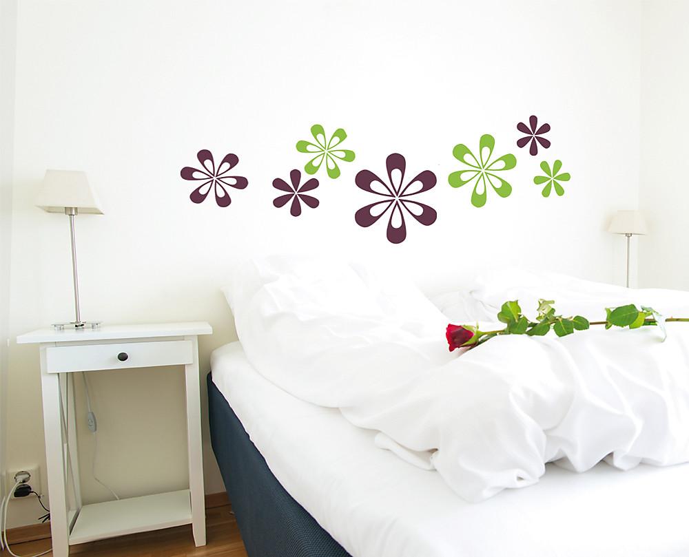 Sticker margherite colorate decorazione adesiva murale for Cornice adesiva per pareti