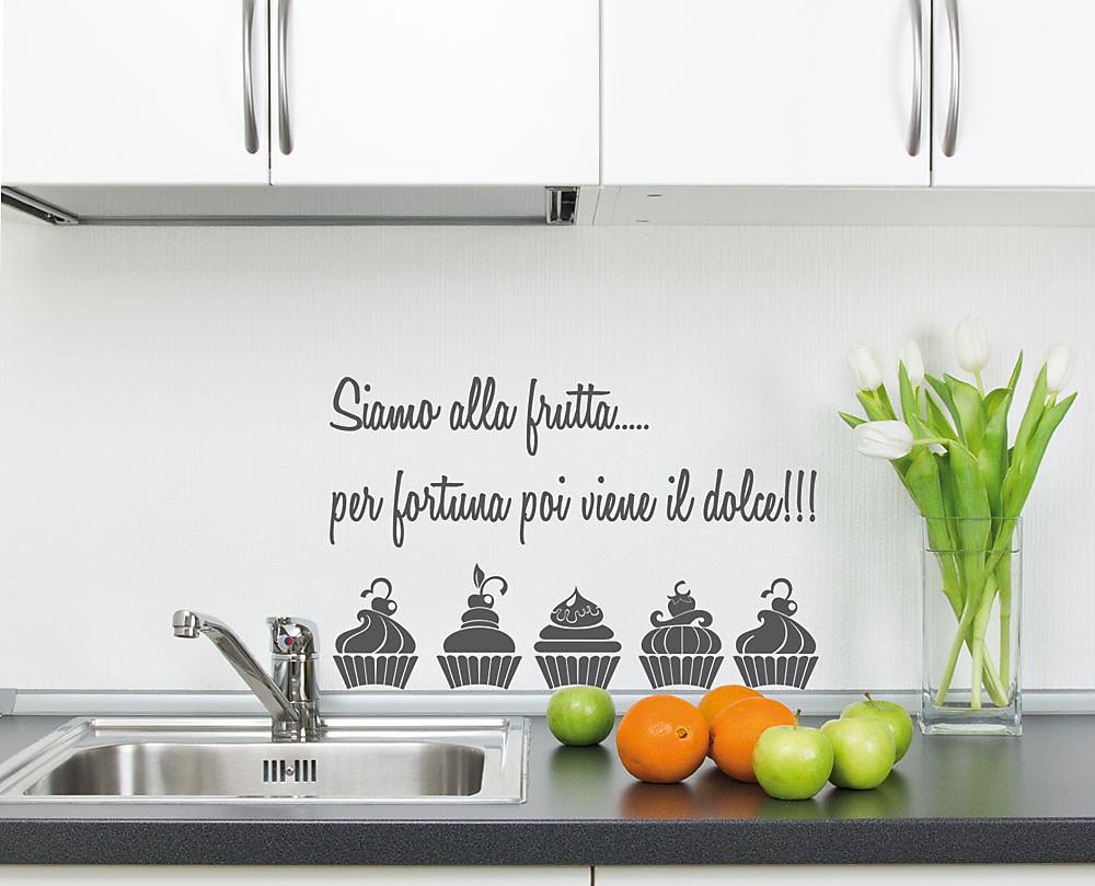 Frutta decorazione adesiva da parete for Carta da parete per cucina