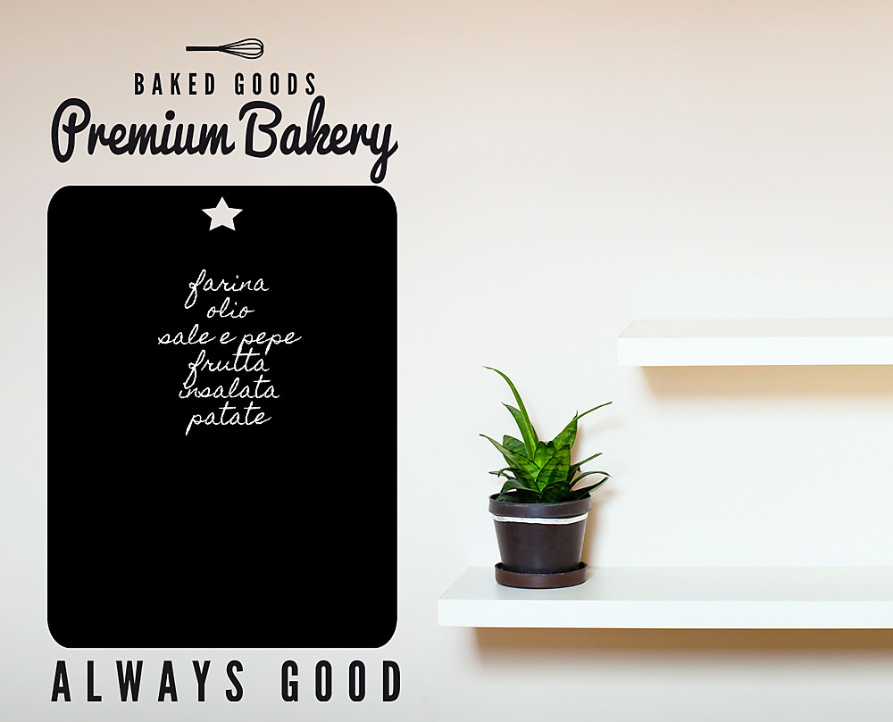 premium bakery lavagna adesiva
