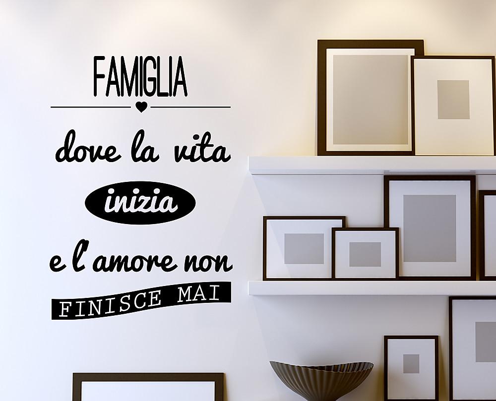 Famiglia decorazione adesiva da parete - Scritte per pareti di casa ...