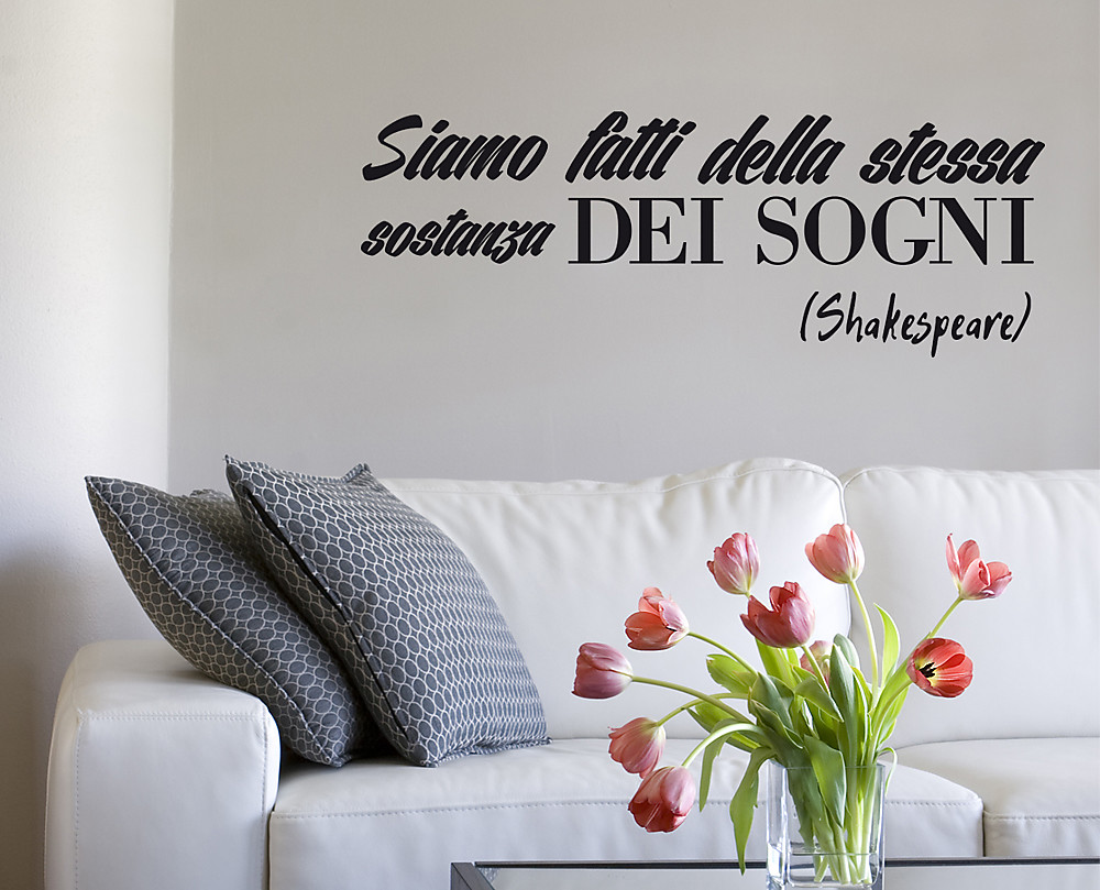 Sogni adesivo decorativo da parete - Scritte sulle pareti di casa ...