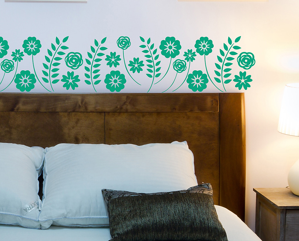 Trama fiori adesivo decorativo da parete for Adesivi decorativi