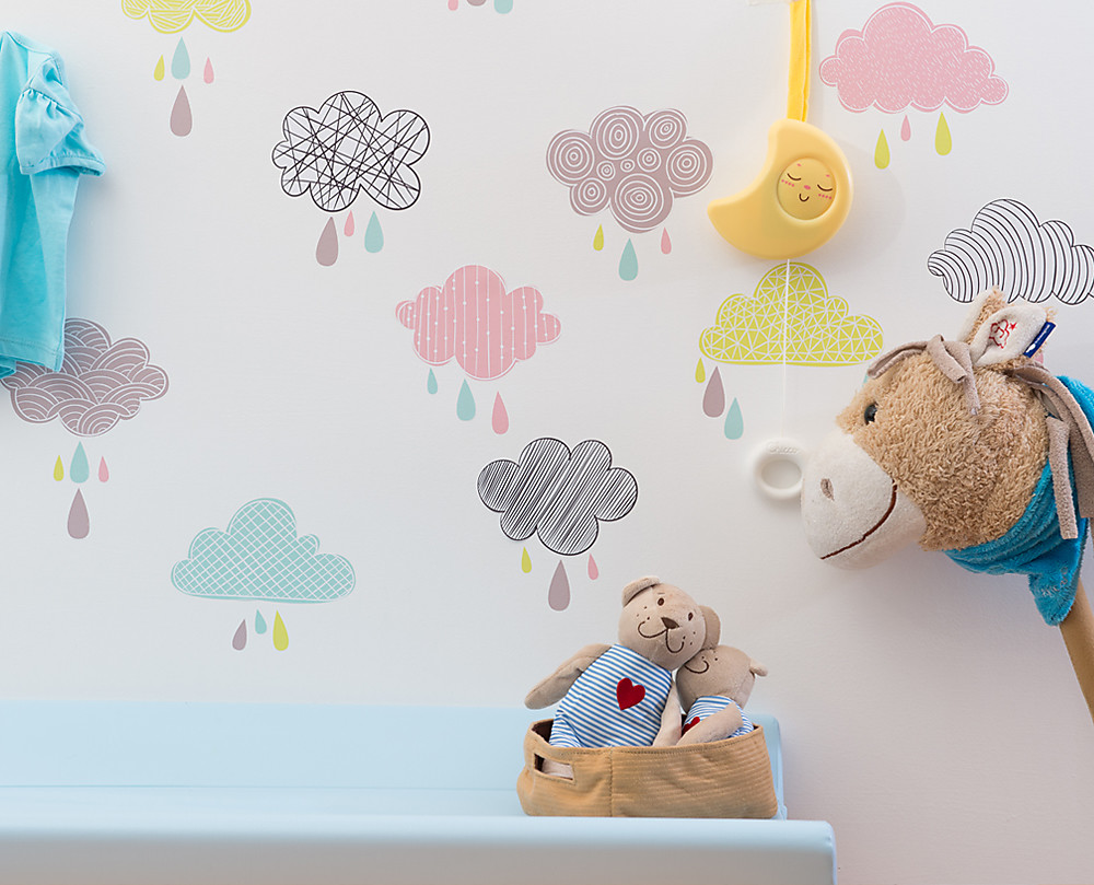 Amazing decorazioni pareti camera bimbi stickers murali - Decorare cameretta bimbo ...