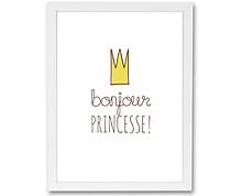 Bonjour princesse - stampa in cornice