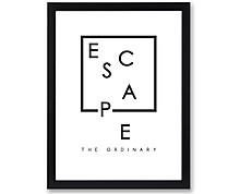 escape - stampa in cornice