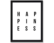 happiness - stampa in cornice