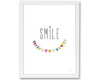 smile - stampa in cornice