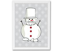 pupazzo di neve - stampa in cornice