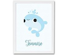 balena azzurra - stampa in cornice