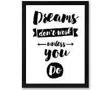 dreams work - stampa in cornice