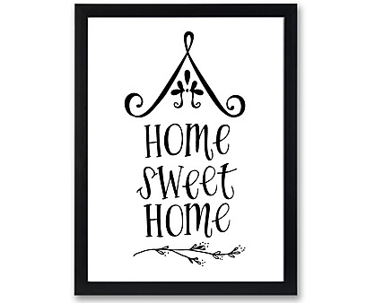 shabby sweet home - stampa in cornice