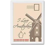 cartolina amsterdam - stampa in cornice