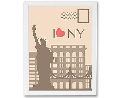 cartolina new york - stampa in cornice
