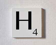 h - tessera decorativa in legno