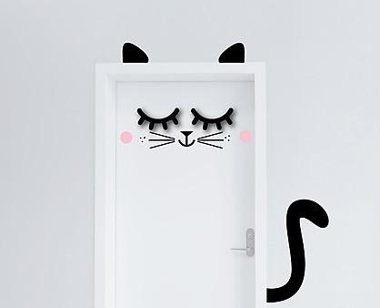 gatto - decorazione per porta