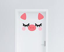maialino  - decorazione per porta