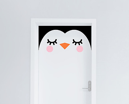 pinguino - decorazione per porta