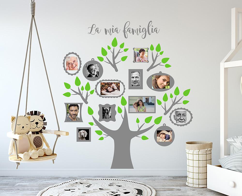 Armadio Organizzato : Decorazione murale albero famiglia decoramo