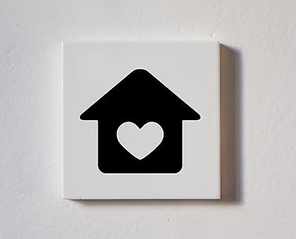 Casa con cuore - tessera decorativa in legno