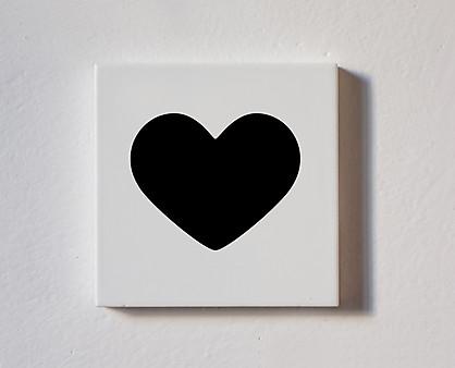 cuore - tessera decorativa in legno