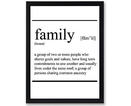 family - stampa in cornice