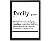 family - stampa in cornice