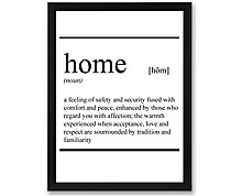home Vocabolario - stampa in cornice