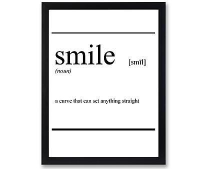 smile vocabolario - stampa in cornice