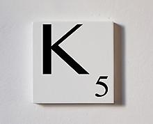 k - tessera decorativa in legno