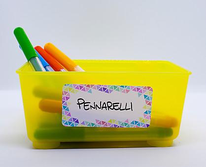 etichette geometrie pastello - scrivibili