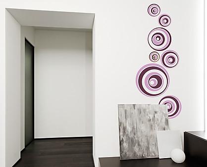Sticker palle ipnotiche decorazione adesiva murale for Cornice adesiva per pareti