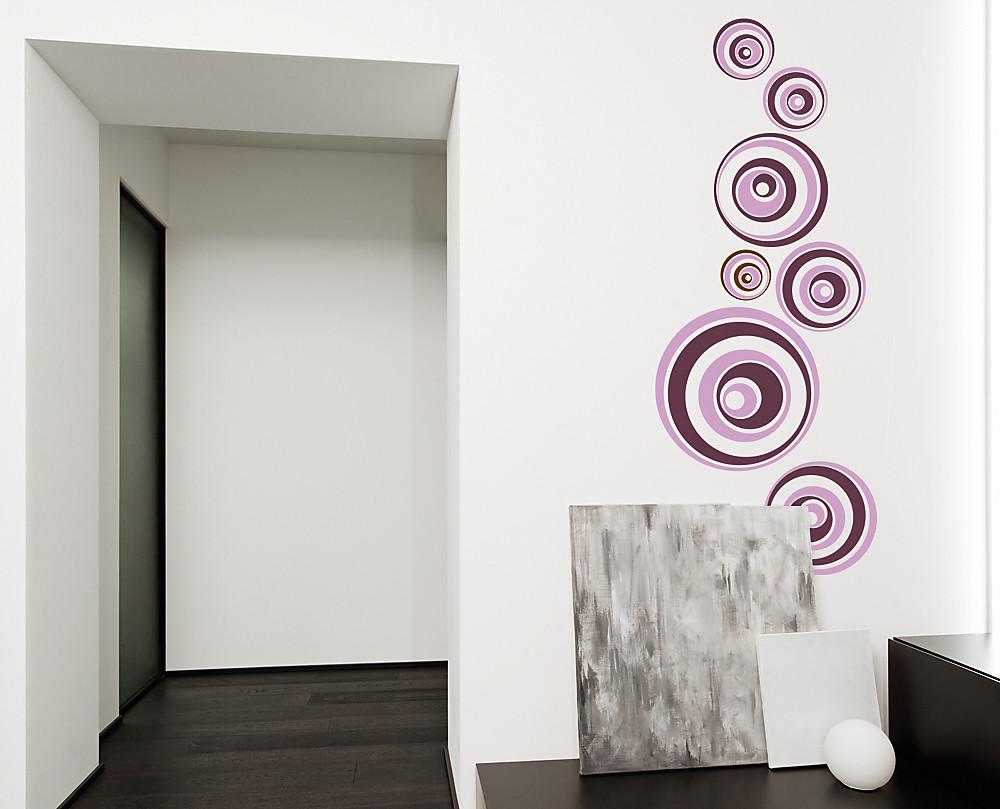 Sticker palle ipnotiche decorazione adesiva murale for Rivestimenti adesivi per pareti cucina