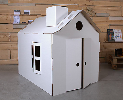 Casa in cartone per bambini - Casette di cartone da costruire ...