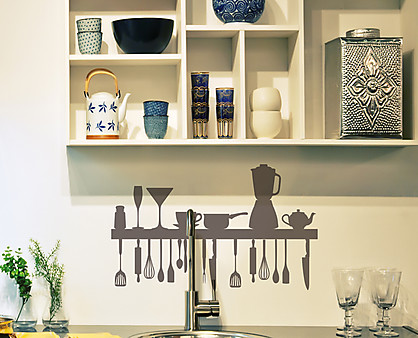 Sticker cucina decorazione adesiva murale - Decorazioni pareti cucina ...
