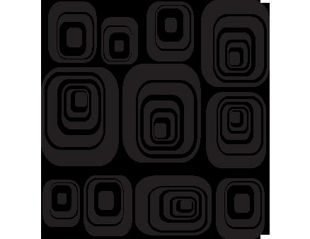Quadrati concentrici decorazione adesiva murale for Disegni geometrici per pareti