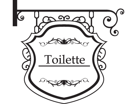 toilette decorative wall sticker