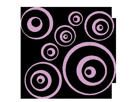 Sticker palle ipnotiche decorazione adesiva murale for Una decorazione e formata da cinque rombi simili