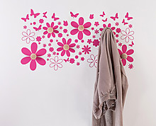 Butterflies and flowers clothes hanger