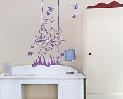 Decorazioni Pareti Orsetti : Adesivo da pareti per bambini orsetto