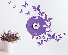 butterflies clock