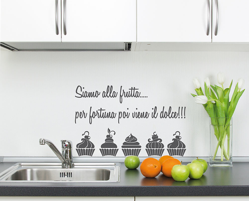 Frutta decorazione adesiva da parete for Mattonelle adesive da parete