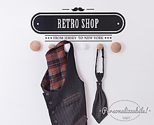 Retro shop clothes hanger