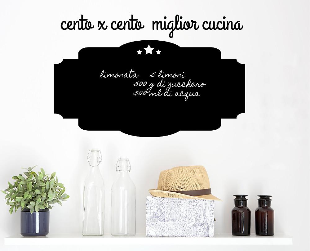Lavagna Da Parete Cucina 100x100 lavagna adesiva