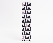 lettera in legno I trama triangoli neri