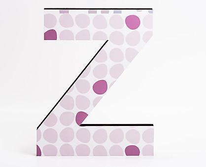 lettera in legno Z trama pallini