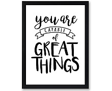 great things - print with frame