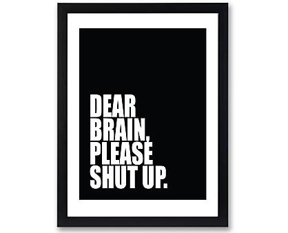 brain - stampa in cornice