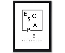 escape - print with frame